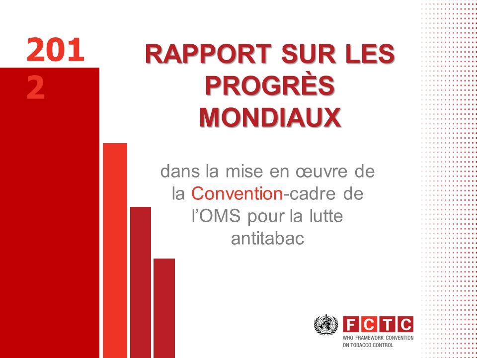 RAPPORT SUR LES PROGRÈS MONDIAUX dans la mise en œuvre de la Convention-cadre de lOMS pour la lutte antitabac 201 2