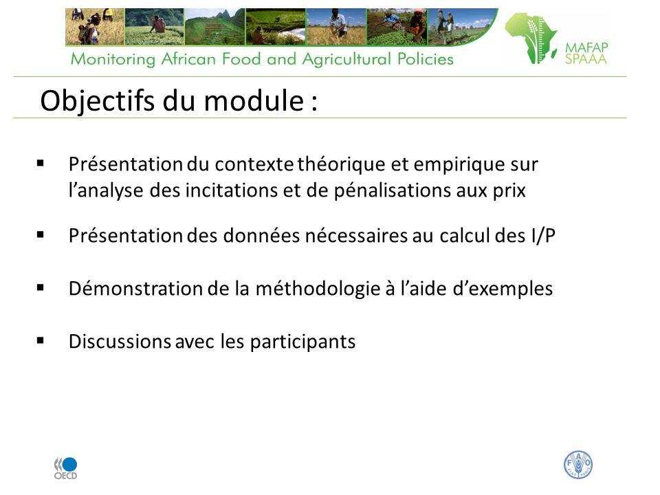 Présentation du contexte théorique et empirique sur lanalyse des incitations et de pénalisations aux prix Présentation des données nécessaires au calc