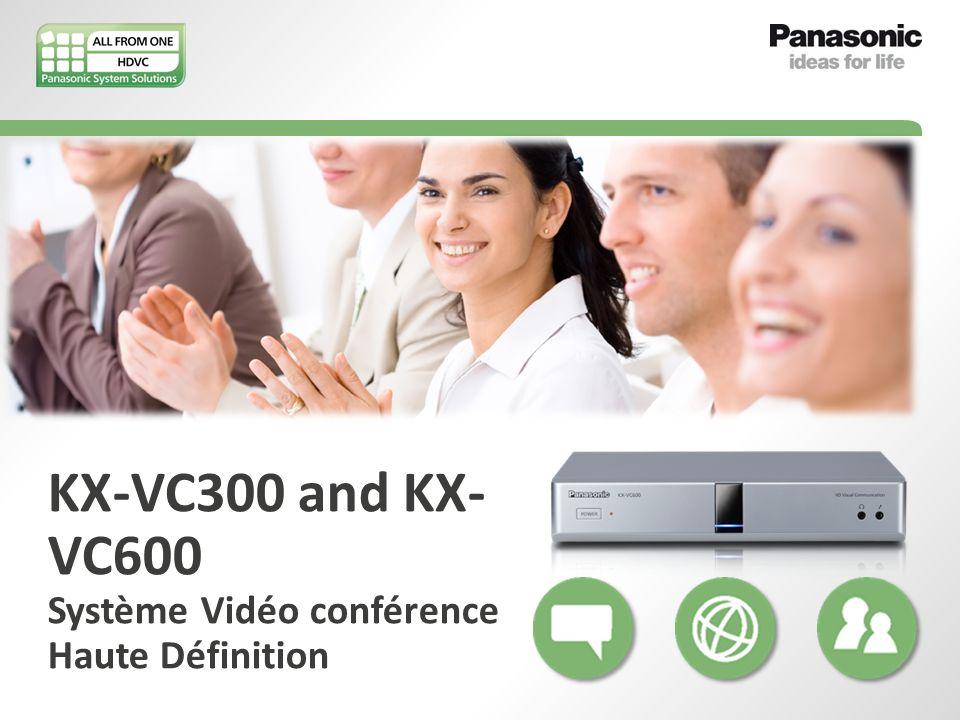 KX-VC300 and KX- VC600 Système Vidéo conférence Haute Définition