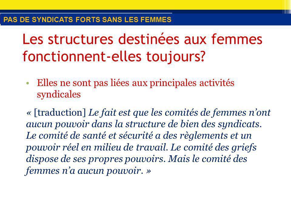 Les structures destinées aux femmes fonctionnent-elles toujours.
