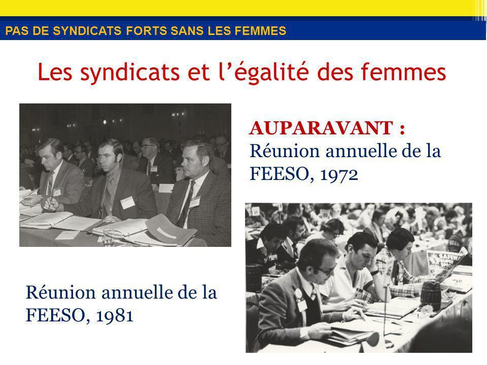 Stratégie n o 6 Appuyer de nouveaux styles de leadership « [traduction] Je crois que légalité des femmes a depuis longtemps été laissée de côté dans le mouvement syndical.