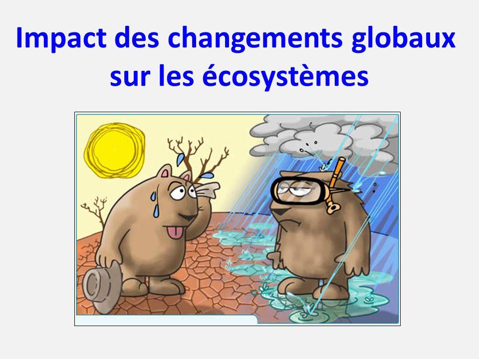 Impact des changements globaux sur les écosystèmes