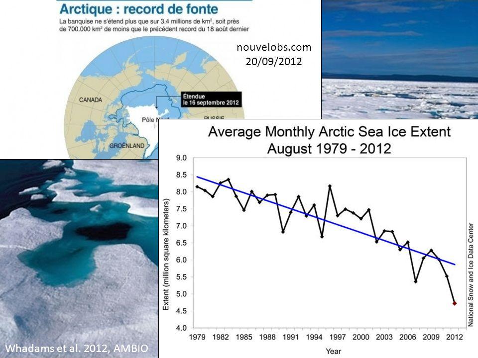 Inventaire des changements globaux récents (1) changement climatique IPCC 2007 (AR4, Chap.