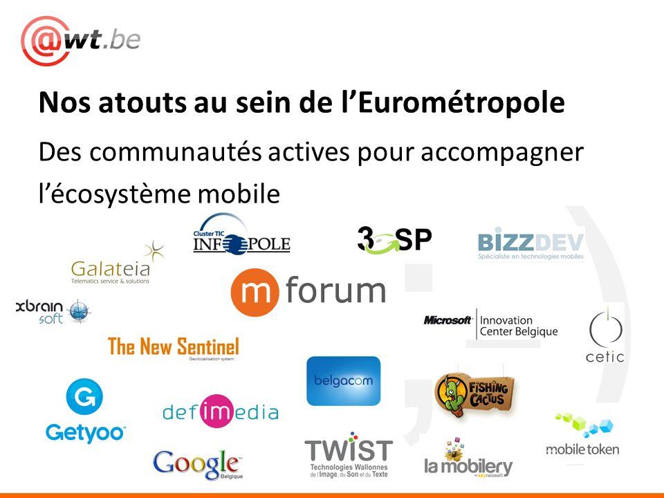 ;-) Des communautés actives pour accompagner lécosystème mobile Nos atouts au sein de lEurométropole
