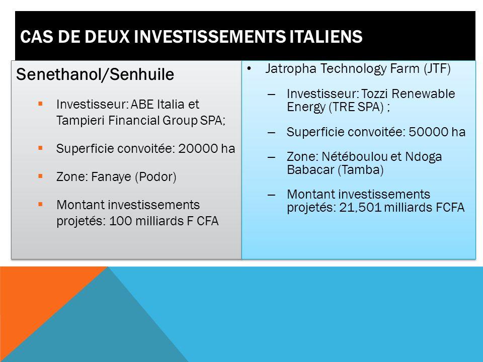 RÉSERVES FONCIÈRES RELATIVEMENT DISPONIBLES Sénégal : 3 800 000 ha cultivables dont 2 500 000 cultivées Terres rizicultivables : 400 000 ha dont le 1/3 valorisées