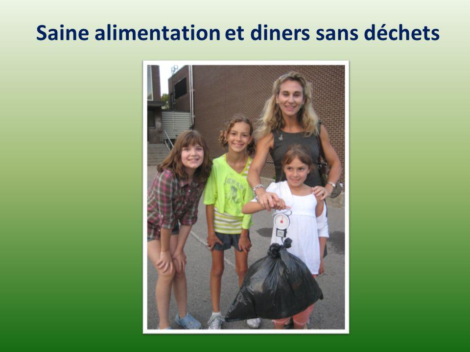 Saine alimentation et diners sans déchets