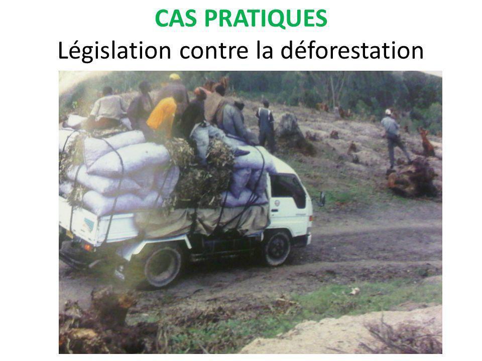 CAS PRATIQUES Législation contre la déforestation