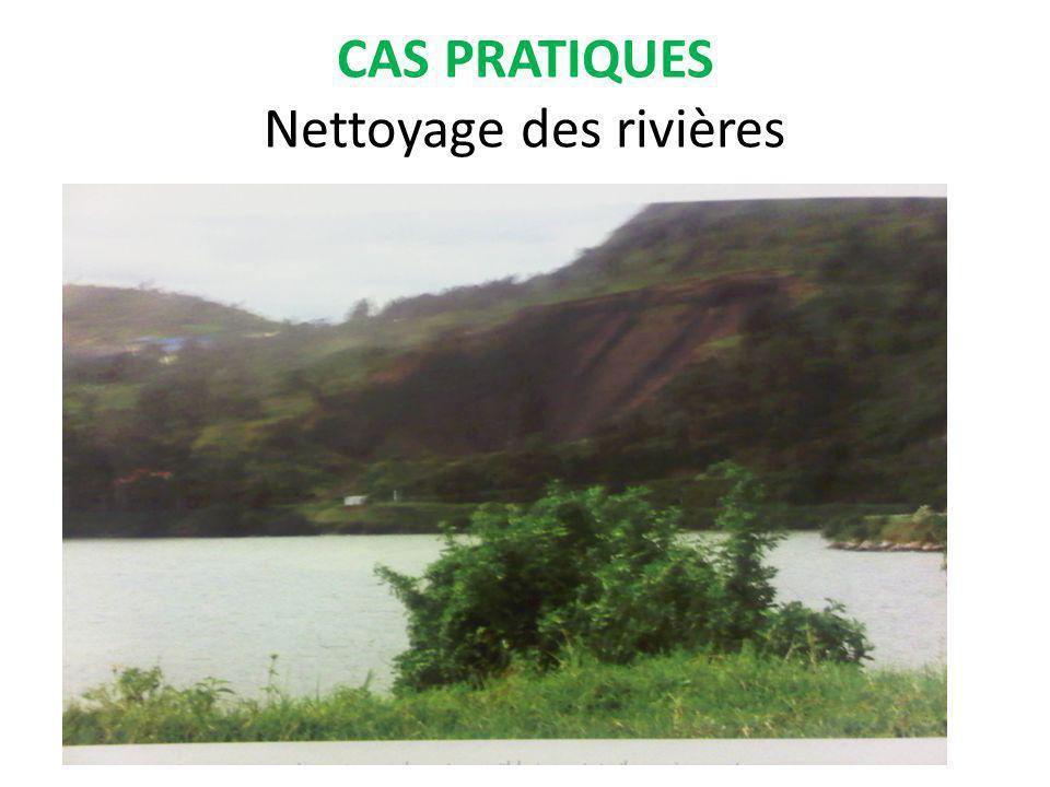 CAS PRATIQUES Nettoyage des rivières