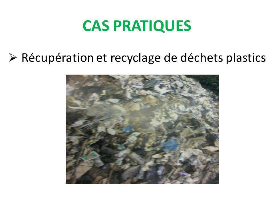CAS PRATIQUES Récupération et recyclage de déchets plastics