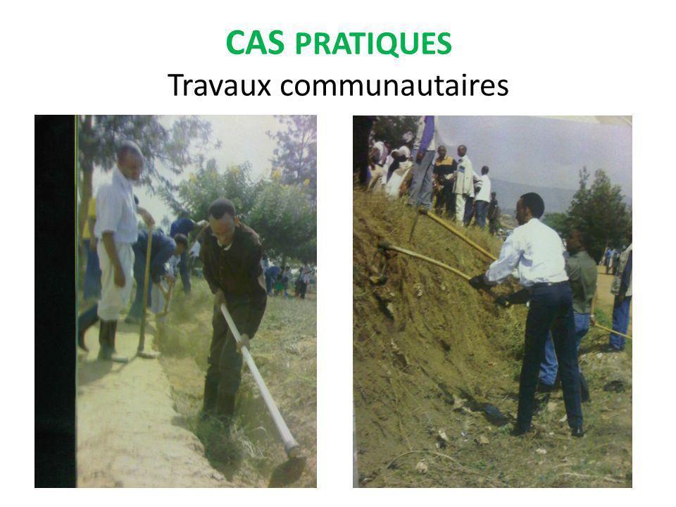 CAS PRATIQUES Travaux communautaires