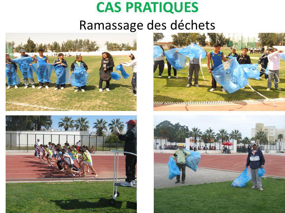 CAS PRATIQUES Ramassage des déchets