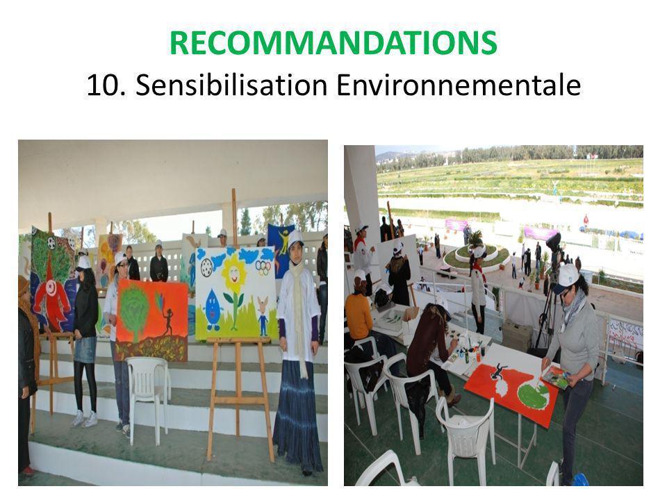 RECOMMANDATIONS 10. Sensibilisation Environnementale