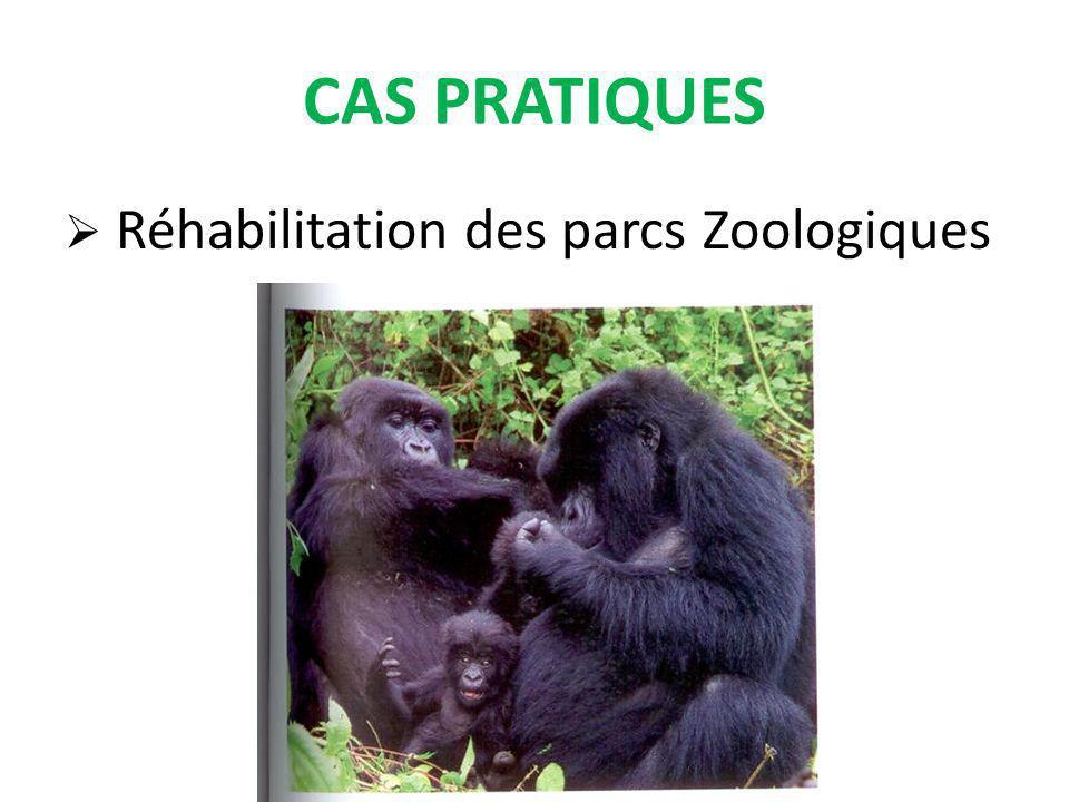 CAS PRATIQUES Réhabilitation des parcs Zoologiques