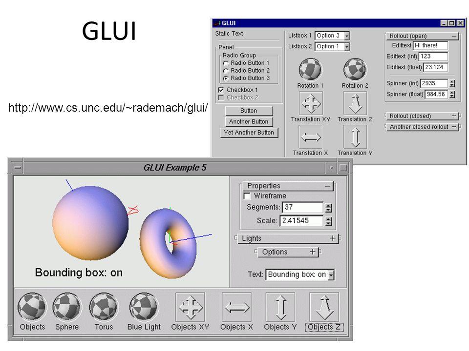 GLUI http://www.cs.unc.edu/~rademach/glui/