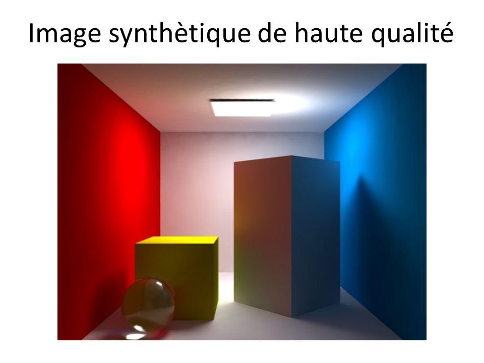 Image synthètique de haute qualité