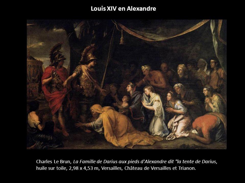 Louis XIV en Alexandre Charles Le Brun, La Famille de Darius aux pieds d'Alexandre dit