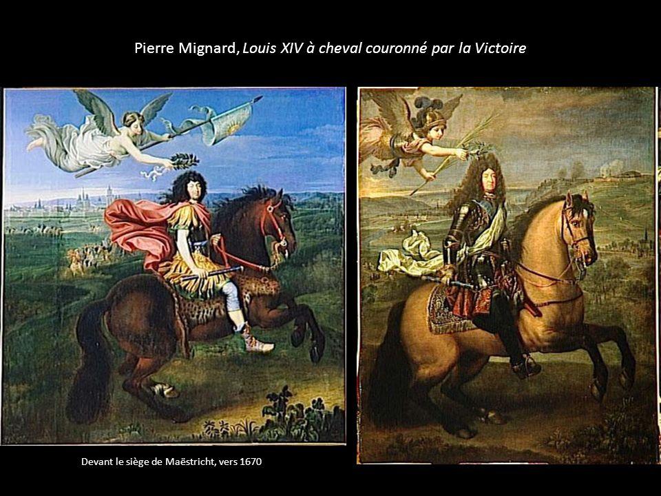 Pierre Mignard, Louis XIV à cheval couronné par la Victoire Devant le siège de Maëstricht, vers 1670