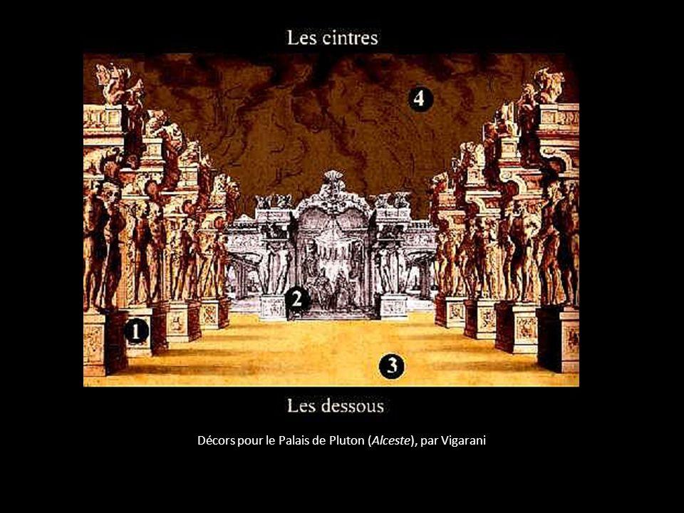 Décors pour le Palais de Pluton (Alceste), par Vigarani