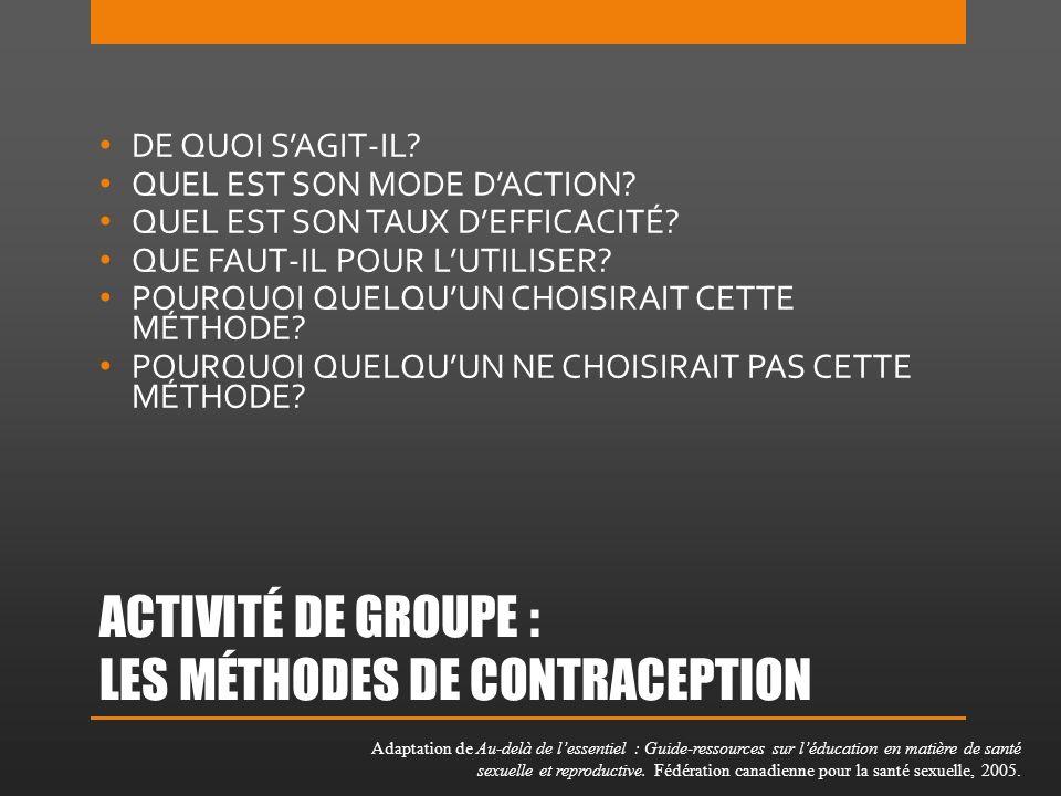 LE CONTRACEPTIF ORAL – LA PILULE DE QUOI SAGIT-IL.