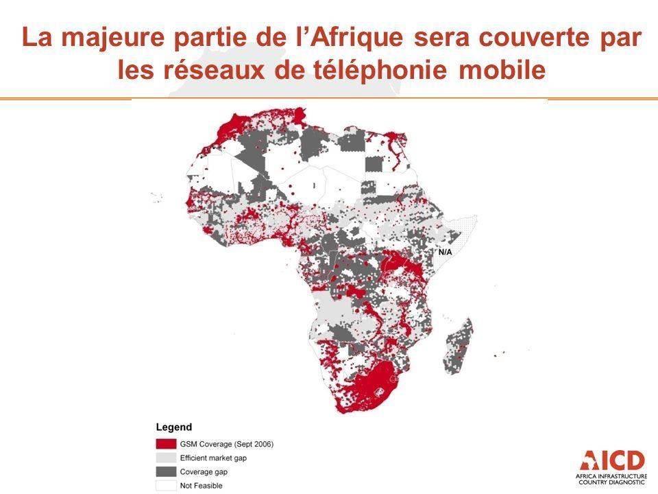 La majeure partie de lAfrique sera couverte par les réseaux de téléphonie mobile