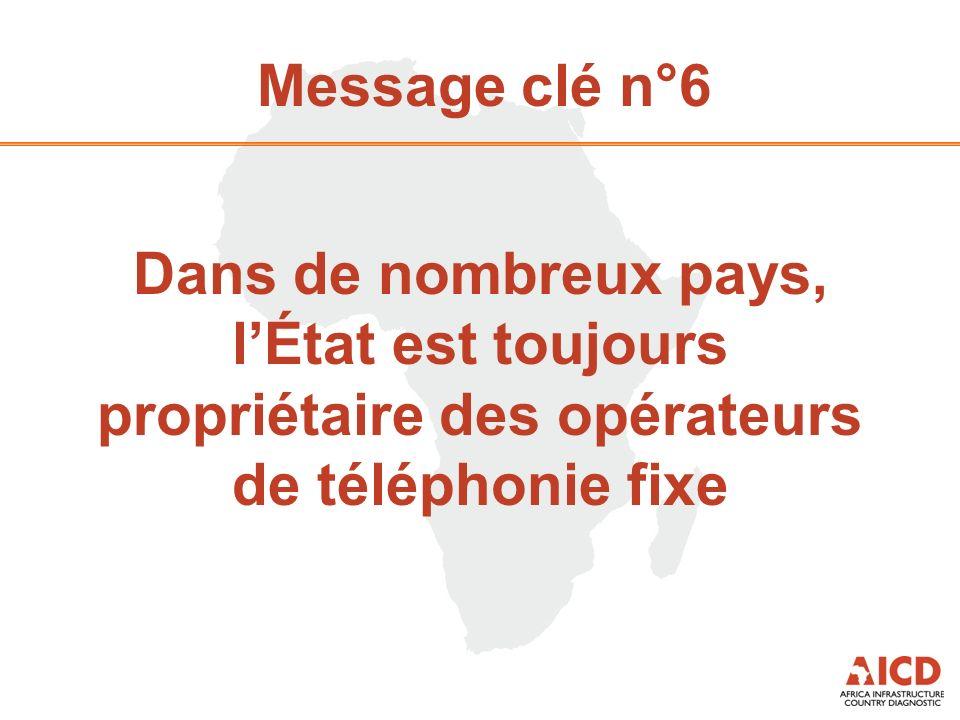 Message clé n°6 Dans de nombreux pays, lÉtat est toujours propriétaire des opérateurs de téléphonie fixe