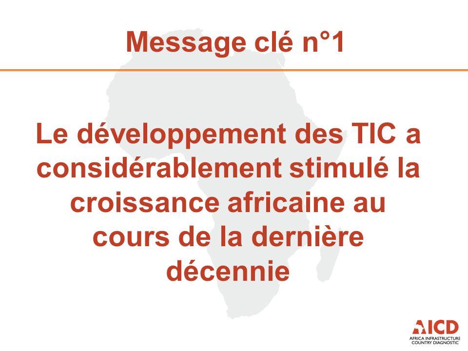 Message clé n°1 Le développement des TIC a considérablement stimulé la croissance africaine au cours de la dernière décennie