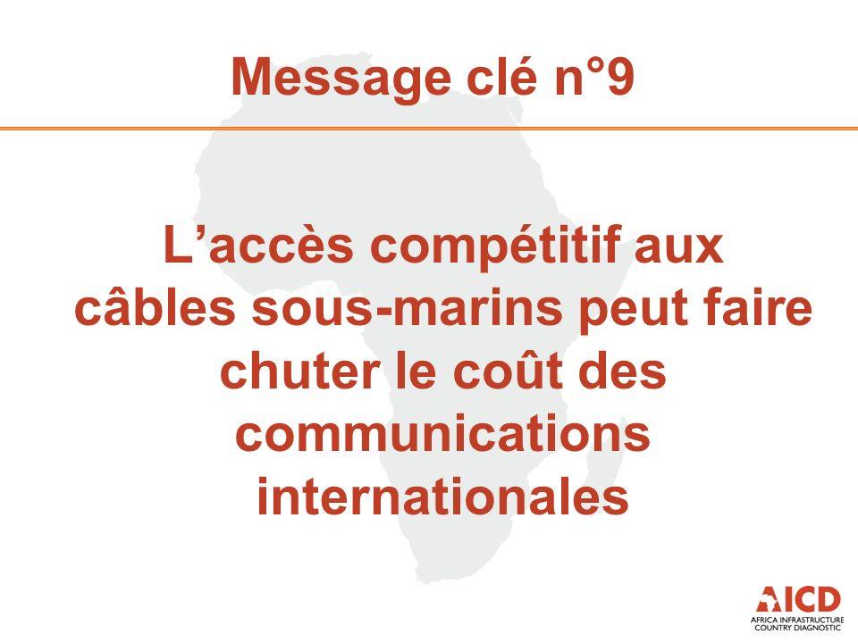 Message clé n°9 Laccès compétitif aux câbles sous-marins peut faire chuter le coût des communications internationales
