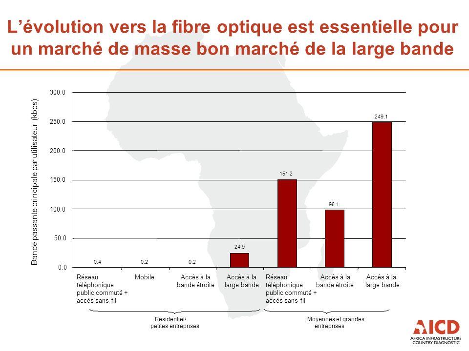 Lévolution vers la fibre optique est essentielle pour un marché de masse bon marché de la large bande Résidentiel/ petites entreprises Moyennes et gra