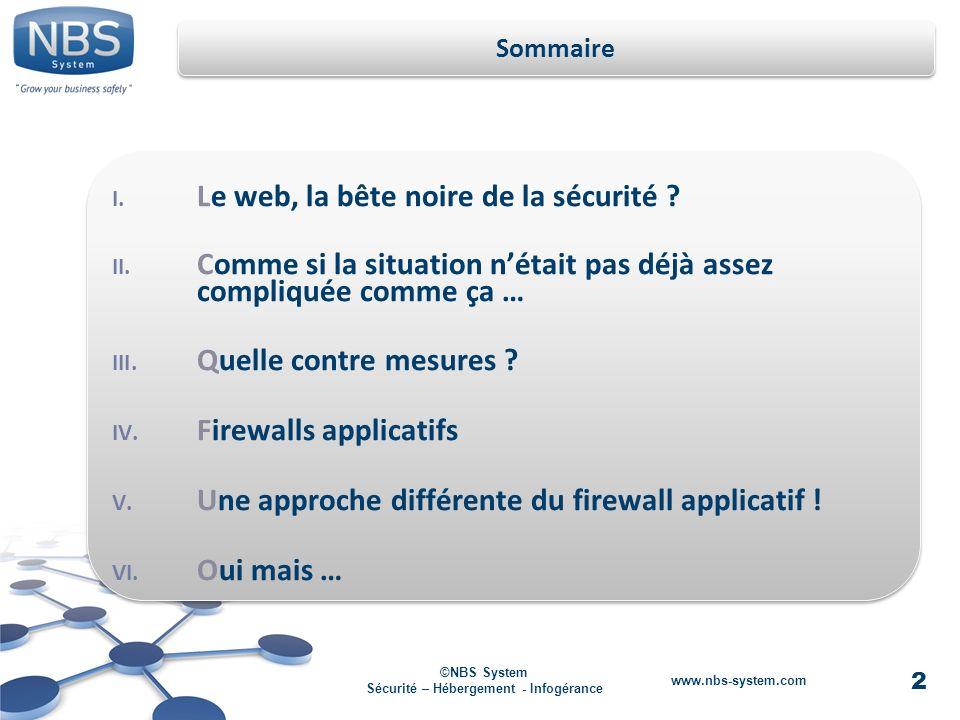 2 ©NBS System Sécurité – Hébergement - Infogérance www.nbs-system.com I.