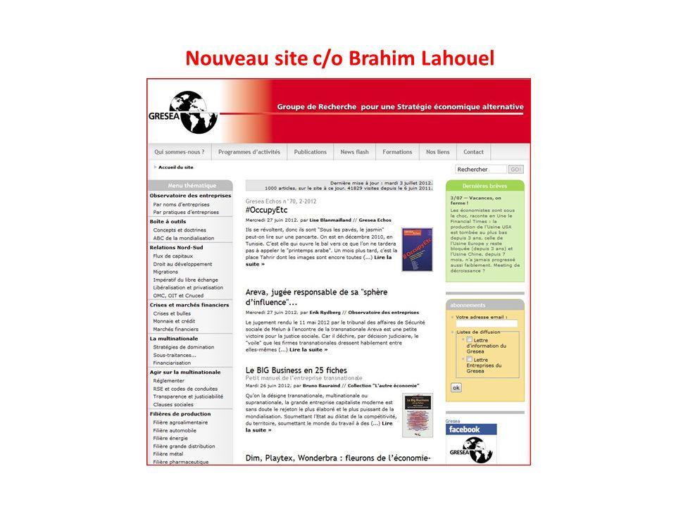 Nouveau site c/o Brahim Lahouel