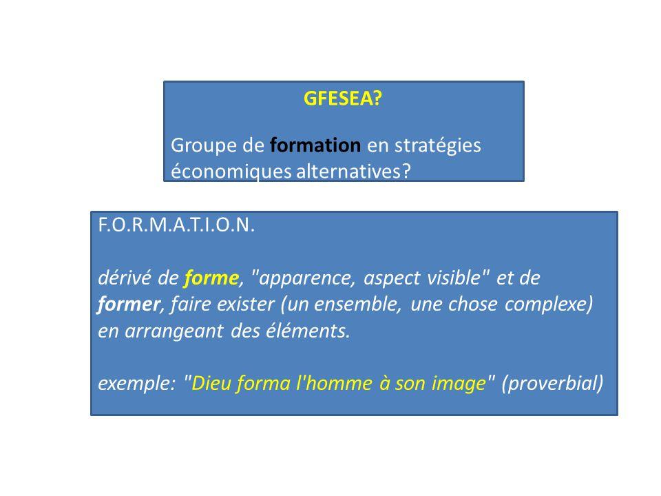 GFESEA. Groupe de formation en stratégies économiques alternatives.