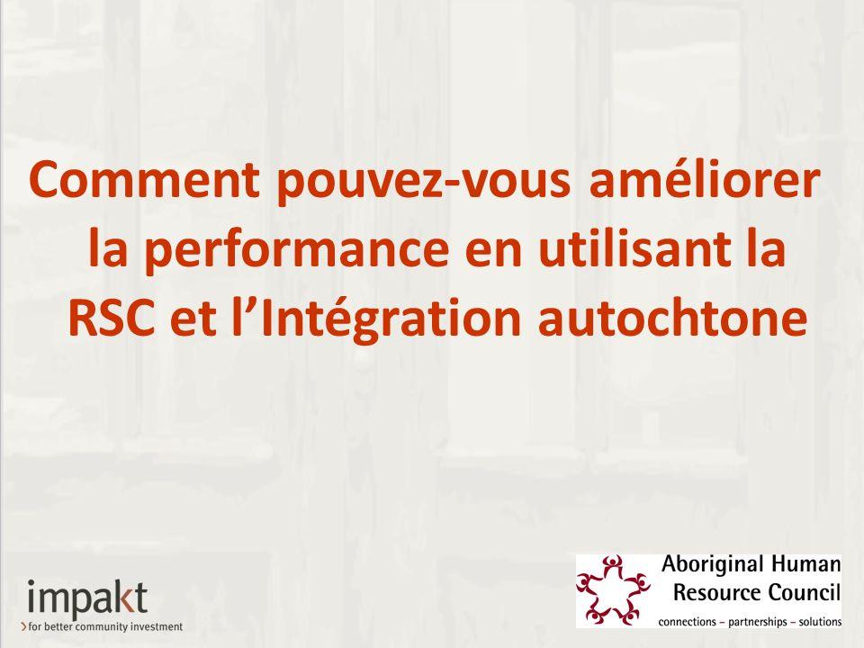 Comment pouvez-vous améliorer la performance en utilisant la RSC et lIntégration autochtone