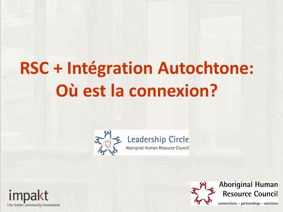 RSC + Intégration Autochtone: Où est la connexion