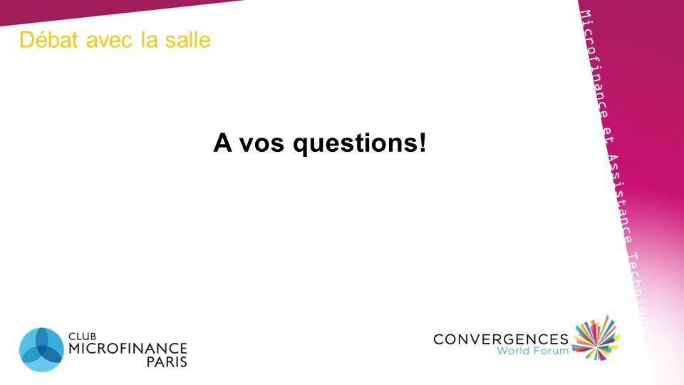 Débat avec la salle Microfinance et Assistance Technique A vos questions!