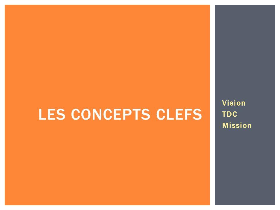 Vision TDC Mission LES CONCEPTS CLEFS