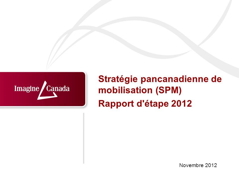 Novembre 2012 Stratégie pancanadienne de mobilisation (SPM) Rapport d'étape 2012