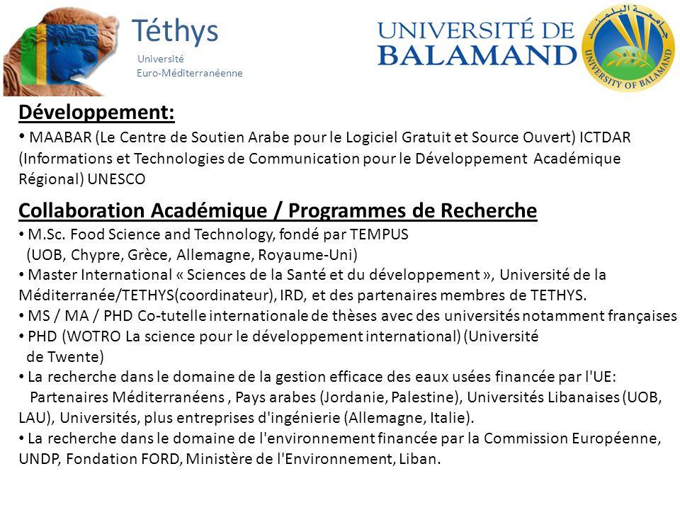 Téthys Université Euro-Méditerranéenne Développement: MAABAR (Le Centre de Soutien Arabe pour le Logiciel Gratuit et Source Ouvert) ICTDAR (Informatio