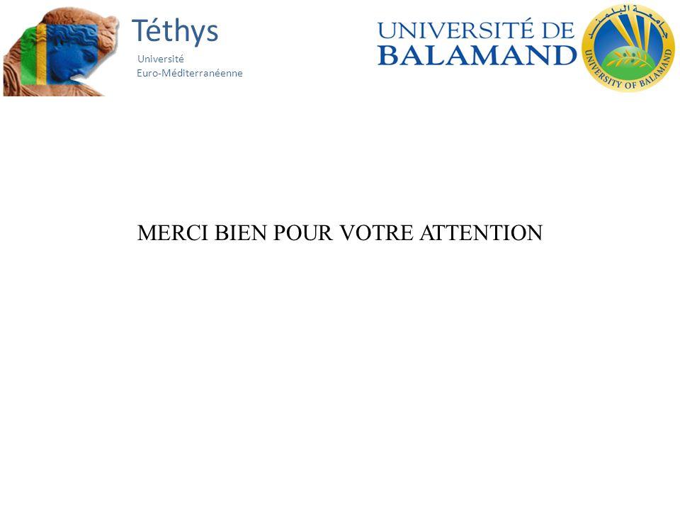 Téthys Université Euro-Méditerranéenne MERCI BIEN POUR VOTRE ATTENTION