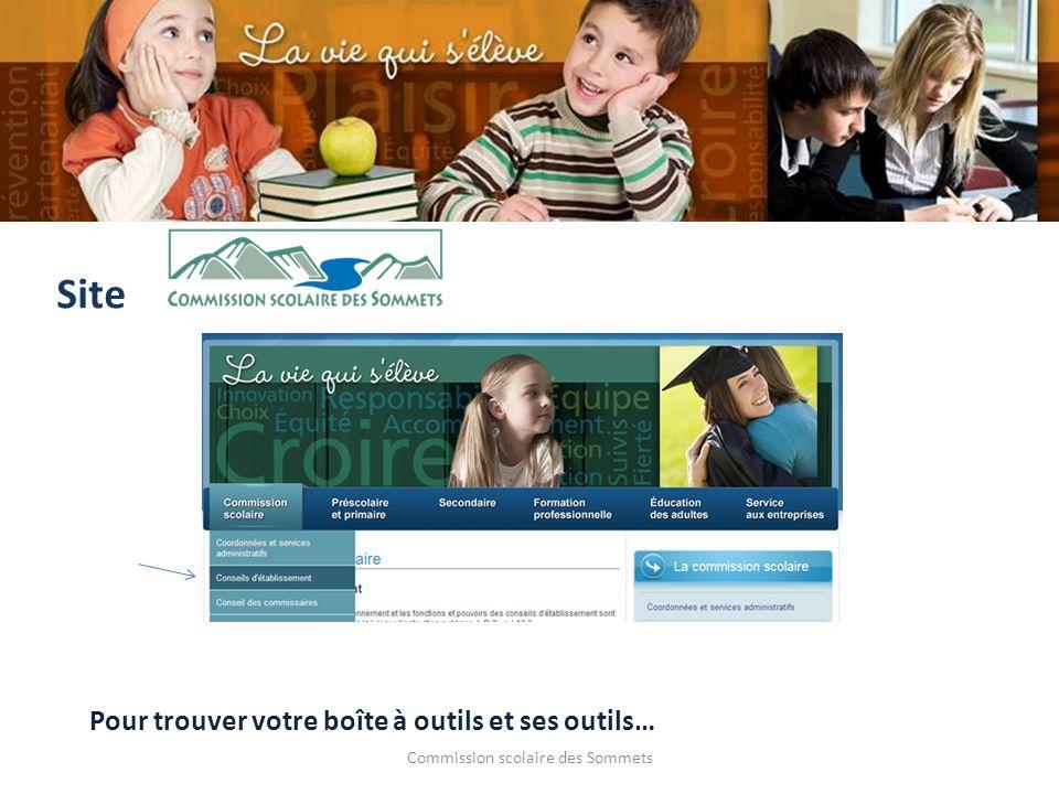 Commission scolaire des Sommets Site Pour trouver votre boîte à outils et ses outils…
