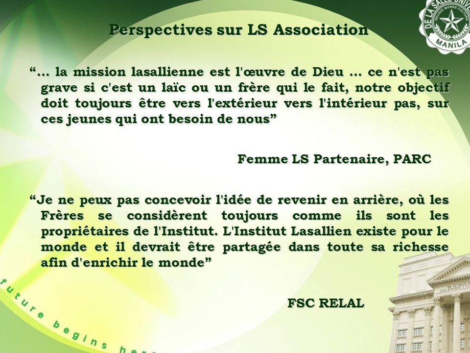 Perspectives sur LS Association … la mission lasallienne est l œuvre de Dieu...