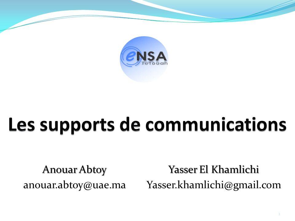 Anouar Abtoy anouar.abtoy@uae.ma Yasser El Khamlichi Yasser.khamlichi@gmail.com 1
