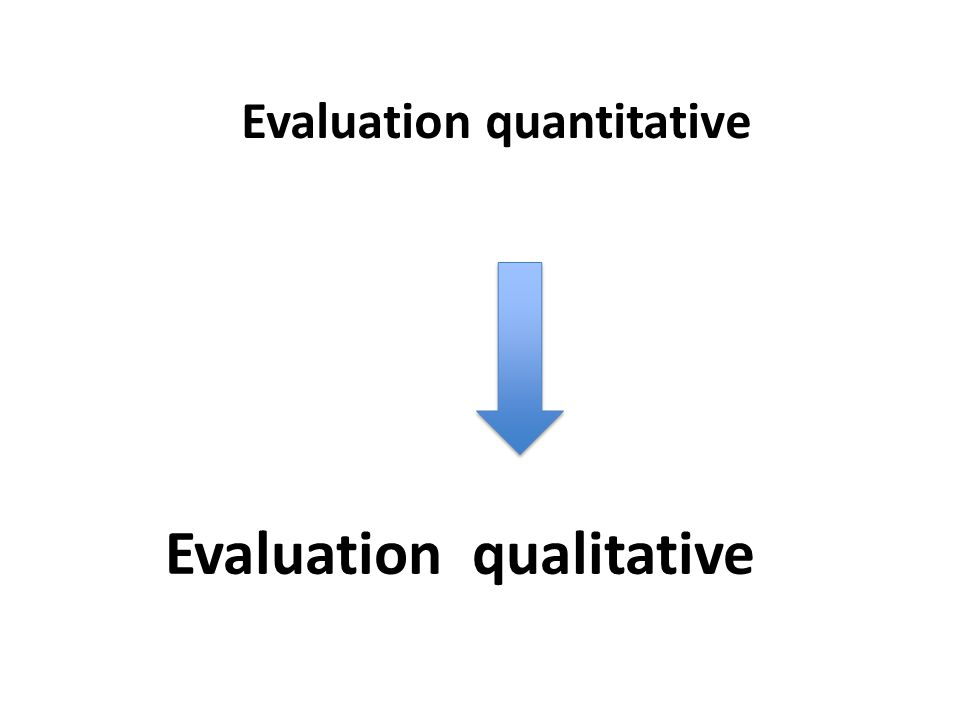 Evaluation quantitative Evaluation qualitative