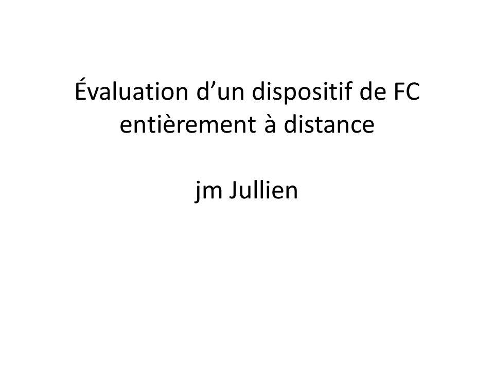 Évaluation dun dispositif de FC entièrement à distance jm Jullien