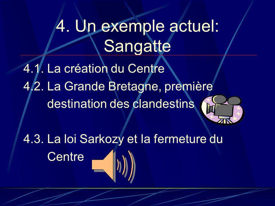 4.Un exemple actuel: Sangatte 4.1. La création du Centre 4.2.