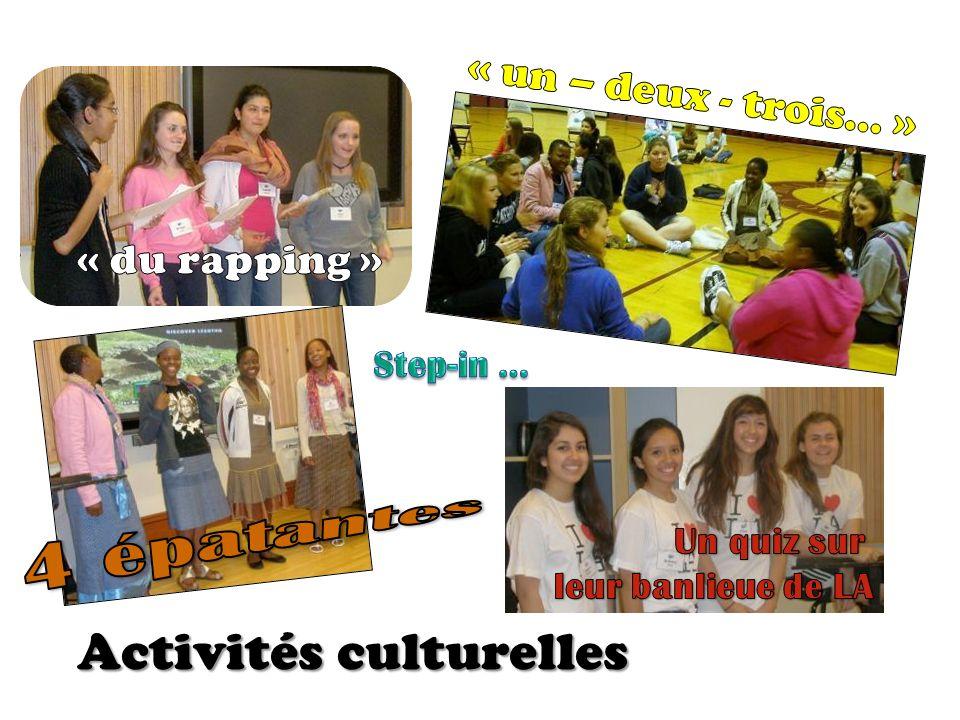 Activités culturelles Activités culturelles