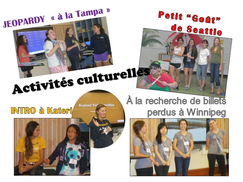 JEOPARDY « à la Tampa » Activités culturelles Activités culturelles