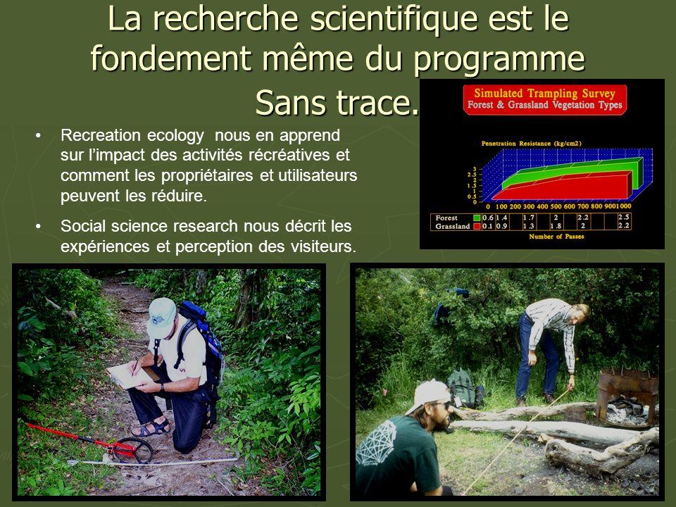 La recherche scientifique est le fondement même du programme Sans trace.