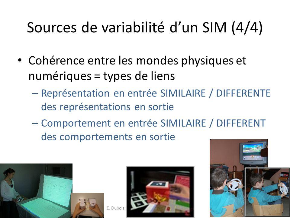 Synthèse de ces points de vue Mise en évidence – Spécificités et grande hétérogénéité – Différentes préoccupations liées aux SIM E.