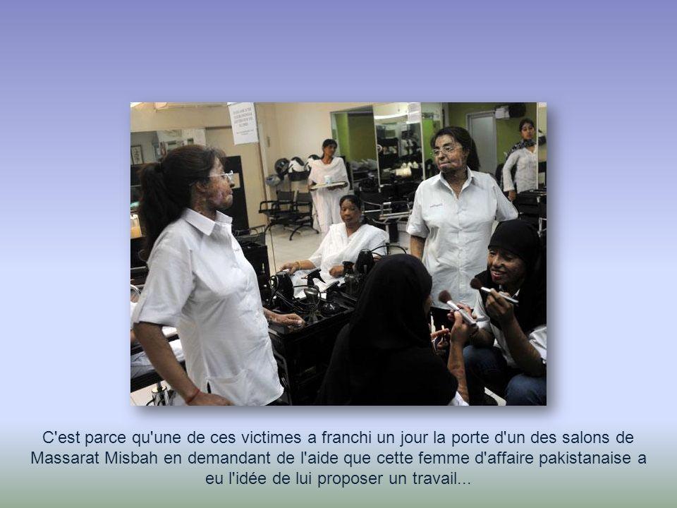 C est parce qu une de ces victimes a franchi un jour la porte d un des salons de Massarat Misbah en demandant de l aide que cette femme d affaire pakistanaise a eu l idée de lui proposer un travail...