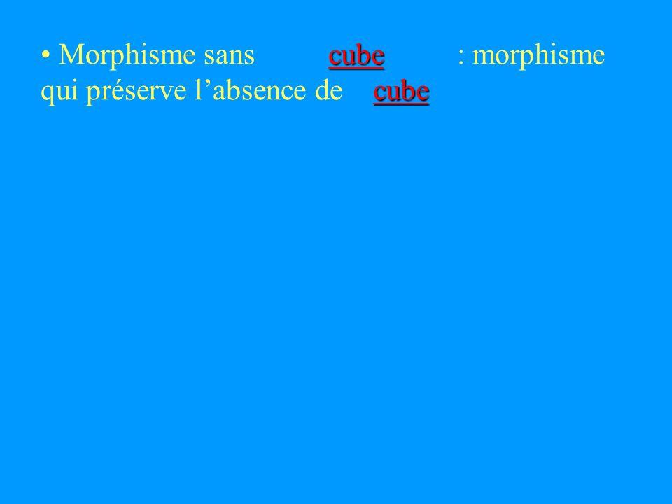 cube cube cube Morphisme sans : morphisme qui préserve labsence de